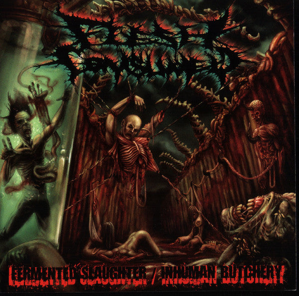 "Flesh Consumed ‎""Fermented Slaughter / Inhuman Butchery"" CD"