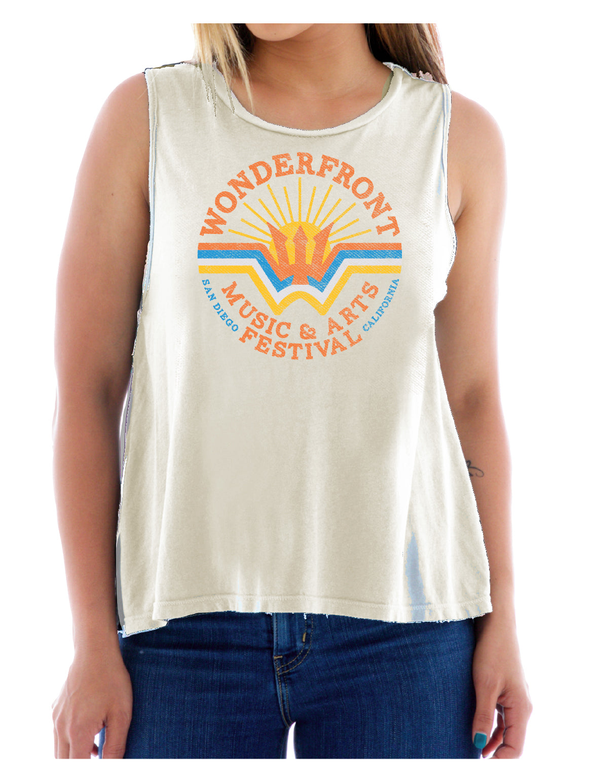 Antique White Women's Lineup Tank