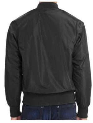 Unisex Black Bomber Jacket