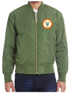 Unisex Army Green Bomber Jacket