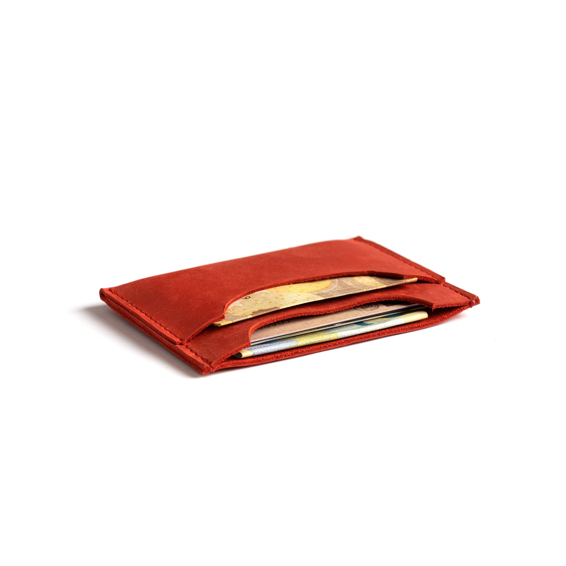 red handmade wallet