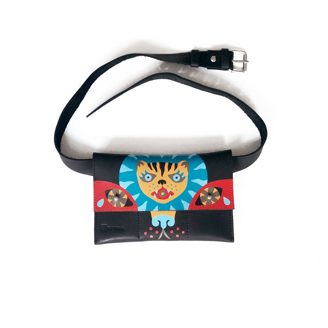 Psychic Tiger - Belt Bag Painted by Kai Nemra