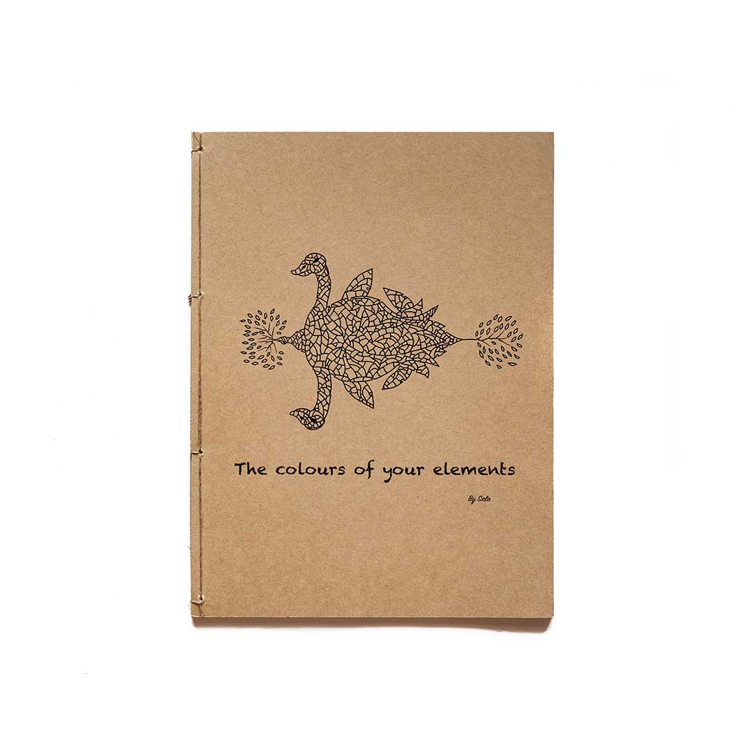 The colours of your elements - Coloring book  by Salo with leather cover (A4)