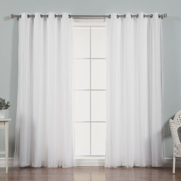 uMIXm Tulle & Nordic White Curtains