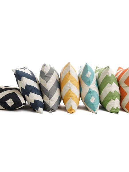 Linen Blend Chevron Pillow Cover