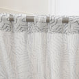 Faux Linen Modern Abstract Curtains