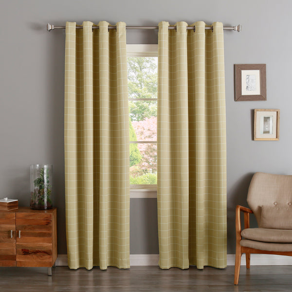 Plaid Room Darkening Curtains
