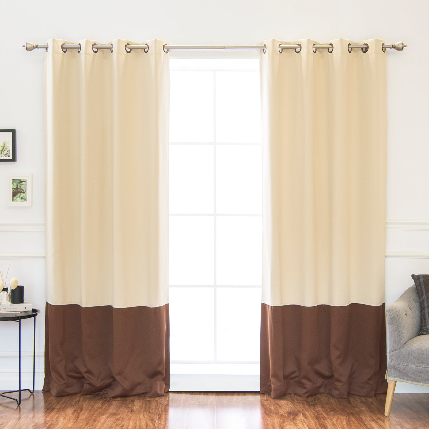 Colorblock Blackout Curtains
