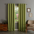 SolbloQ Solid Silver Grommet Blackout Curtains