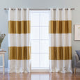Faux Silk Striped Blackout Curtains