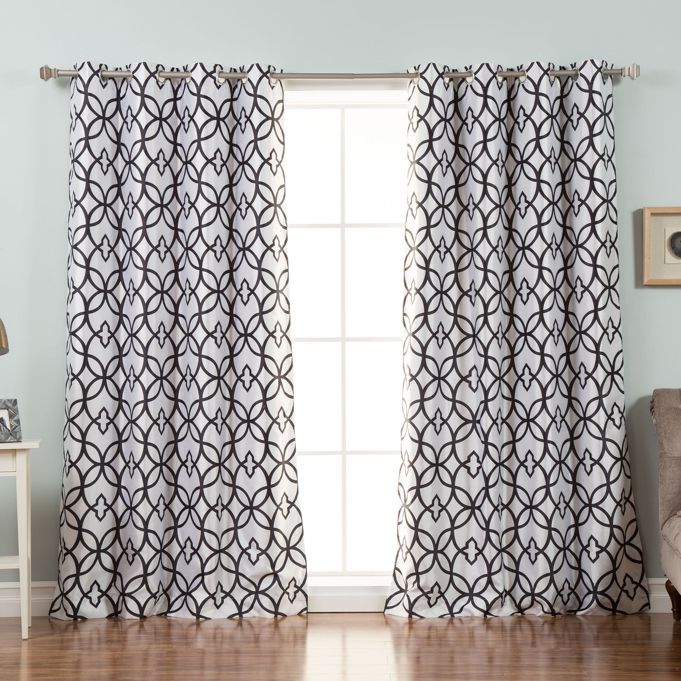 Faux Silk Trellis Curtains