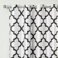 Faux Silk Reverse Moroccan Blackout Curtain