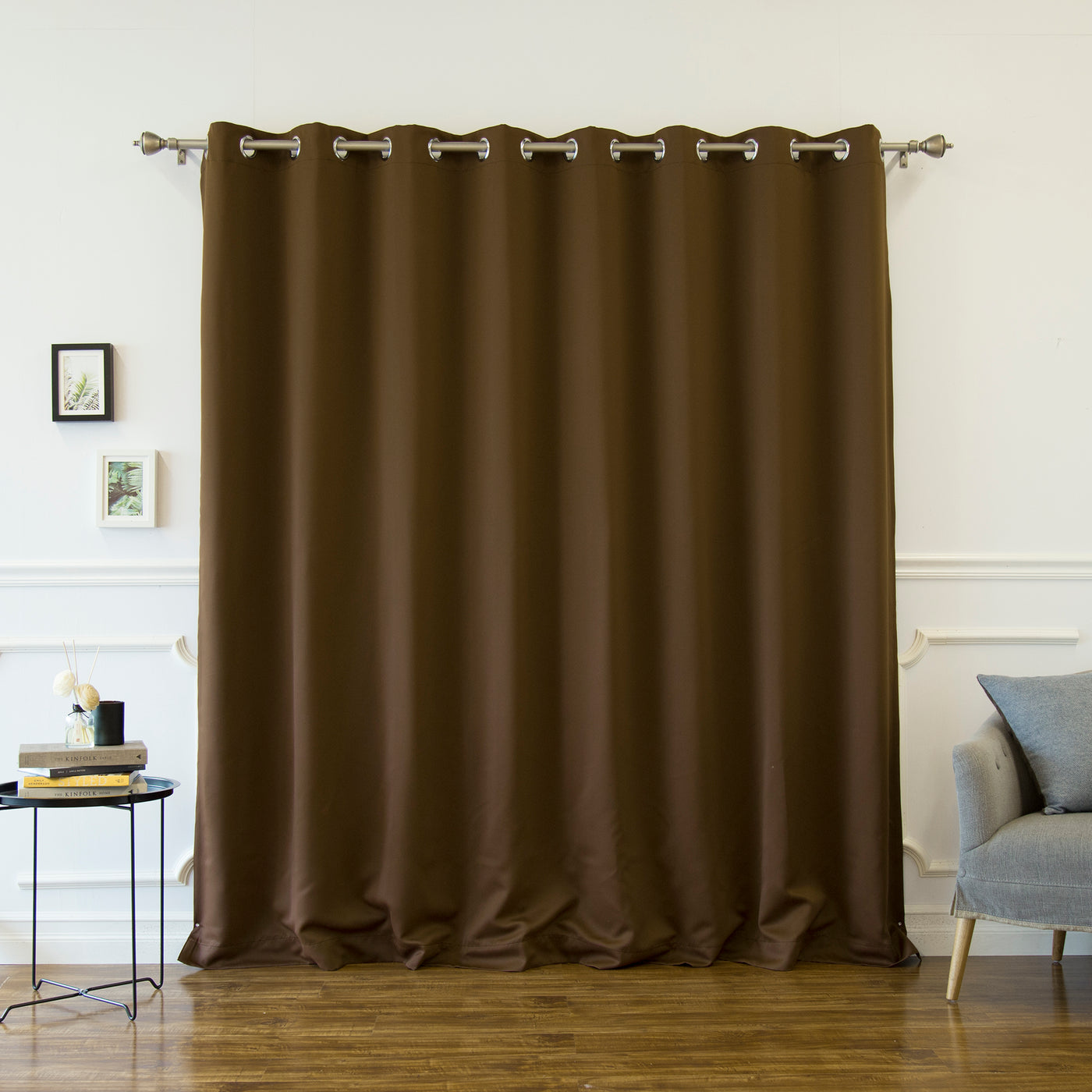 Wide Basic Silver Grommet Blackout Curtain