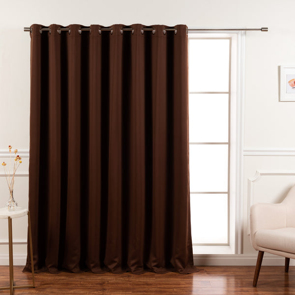 Wide Flame Retardant Basic Blackout Curtain