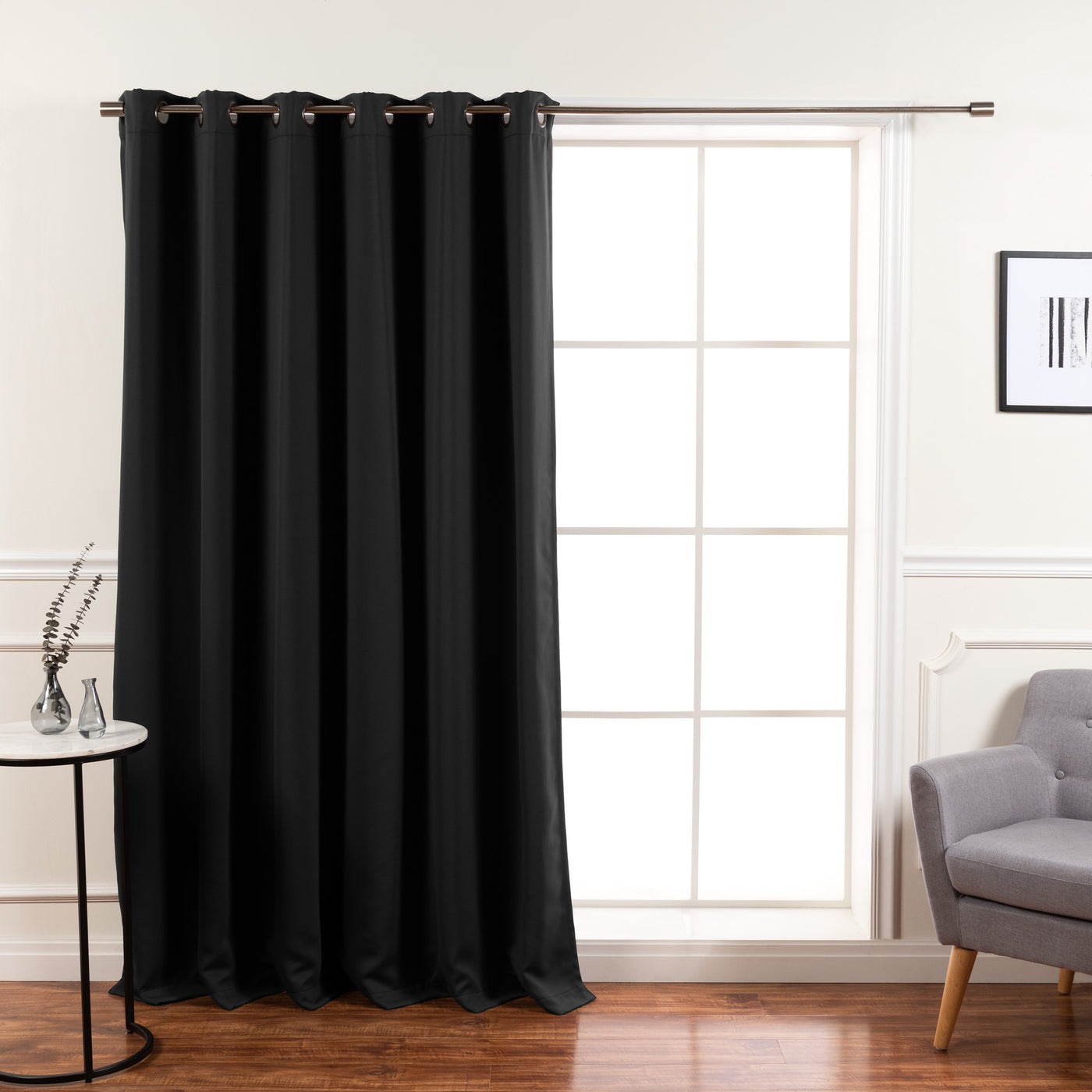 Wide Basic Blackout Curtain