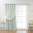 Wide Tulle Overlay Grommet Blackout Curtain