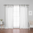 Oxford Border Tie Top Curtains