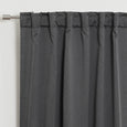SolbloQ Heathered Linen Look Back Tab Blackout Curtains