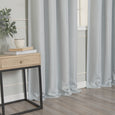 SolbloQ Basketweave Faux Linen Grommet Blackout Curtains