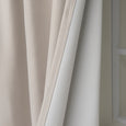 SolbloQ Basketweave Faux Linen Back Tab Blackout Curtains