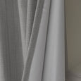 SolbloQ Woven Faux Linen Grommet Curtains with Blackout Lining