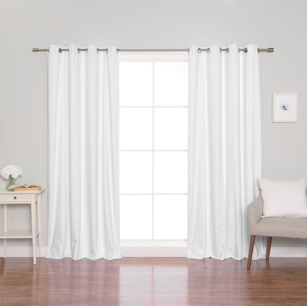 Linen Textured Grommet Thermal Total Blackout Curtains