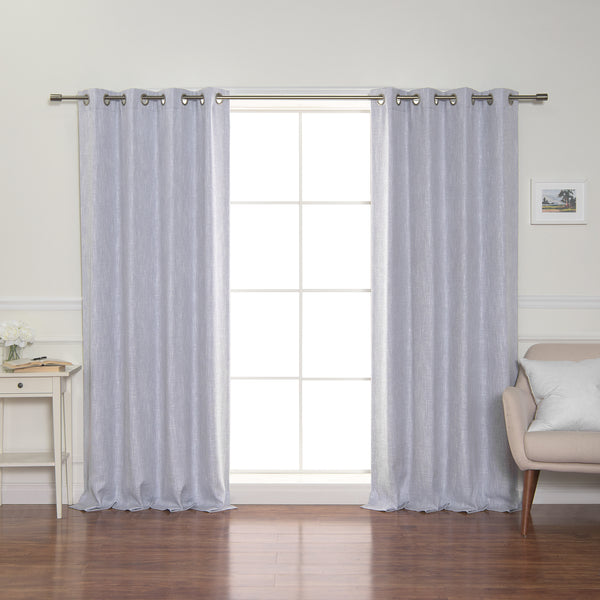Linen-Look Grommet Blackout Curtains