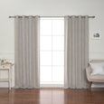 Heather Linen Grommet Blackout Curtains