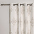 Royal Medallion Linen Blend Blackout Curtain