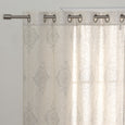 Royal Medallion Linen Blend Curtains