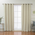 Linen Blend Blackout Curtain - Natural