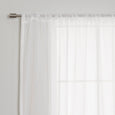Sheer Faux Linen Textured Curtains