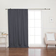Faux Linen Room Darkening Curtain