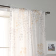 Sheer Watercolor Leaves Curtains