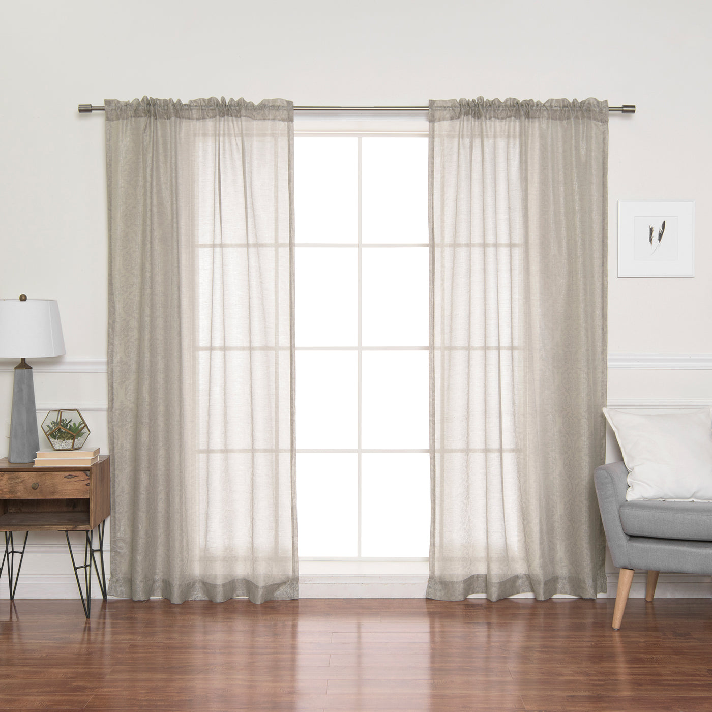 Sheer Damask Venice Curtains