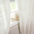 Faux Linen Checkered Curtains
