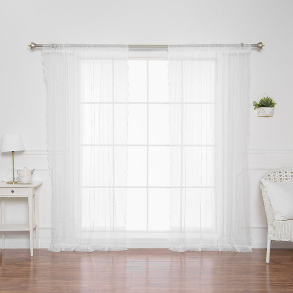Sheer Lace Dot Curtains