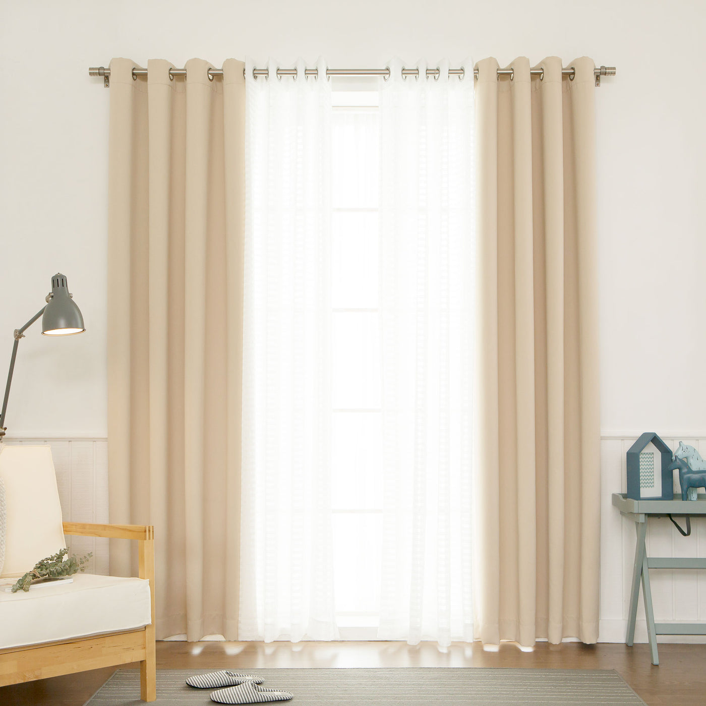 uMIXm Sheer Checkered & Blackout Curtains