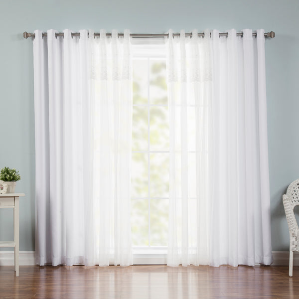 uMIXm Dimanche Tulle & Nordic White Curtains