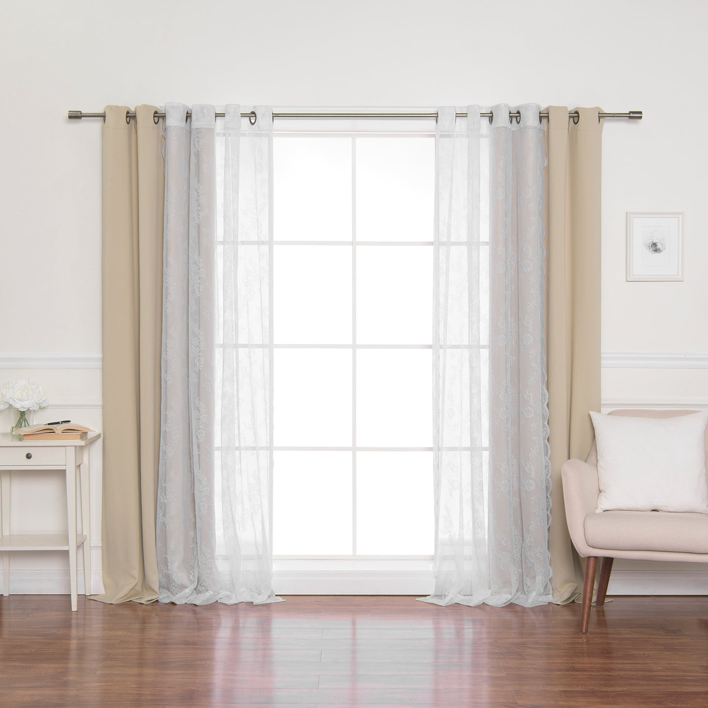Rose Sheers & Blackout Curtains