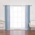 Sheer Pretty Dot & Blackout Curtains