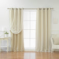 uMIXm Tulle & Silver Star Blackout Curtains