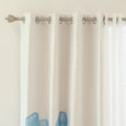 uMIXm Tulle & Faux Silk Watercolor Blackout Curtains