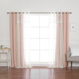 uMIXm Dimanche Tulle & Star Cutout Blackout Curtains