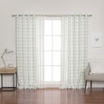uMIXm Sheer Dot & Watercolor Check Curtains
