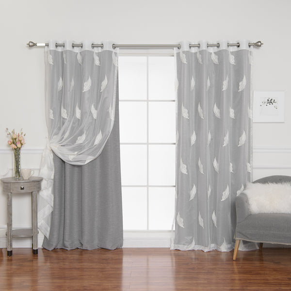 uMIXm Sheer Leaf & Cotton Slub Blackout Curtains