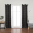 uMIXm Sheer Triangle & Plaid Room Darkening Curtains