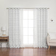 uMIXm Sheer Triangle & Watercolor Check Curtains
