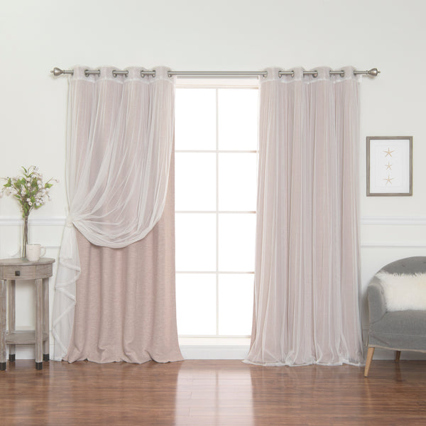 uMIXm Tulle & Cotton Slub Blackout Curtains