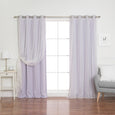 uMIXm Tulle & Silver Grommet Blackout Curtains